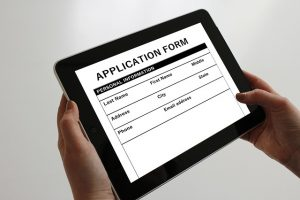 decorative photo - job application on tablet