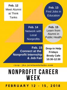 Nonprofit Career Week flyer
