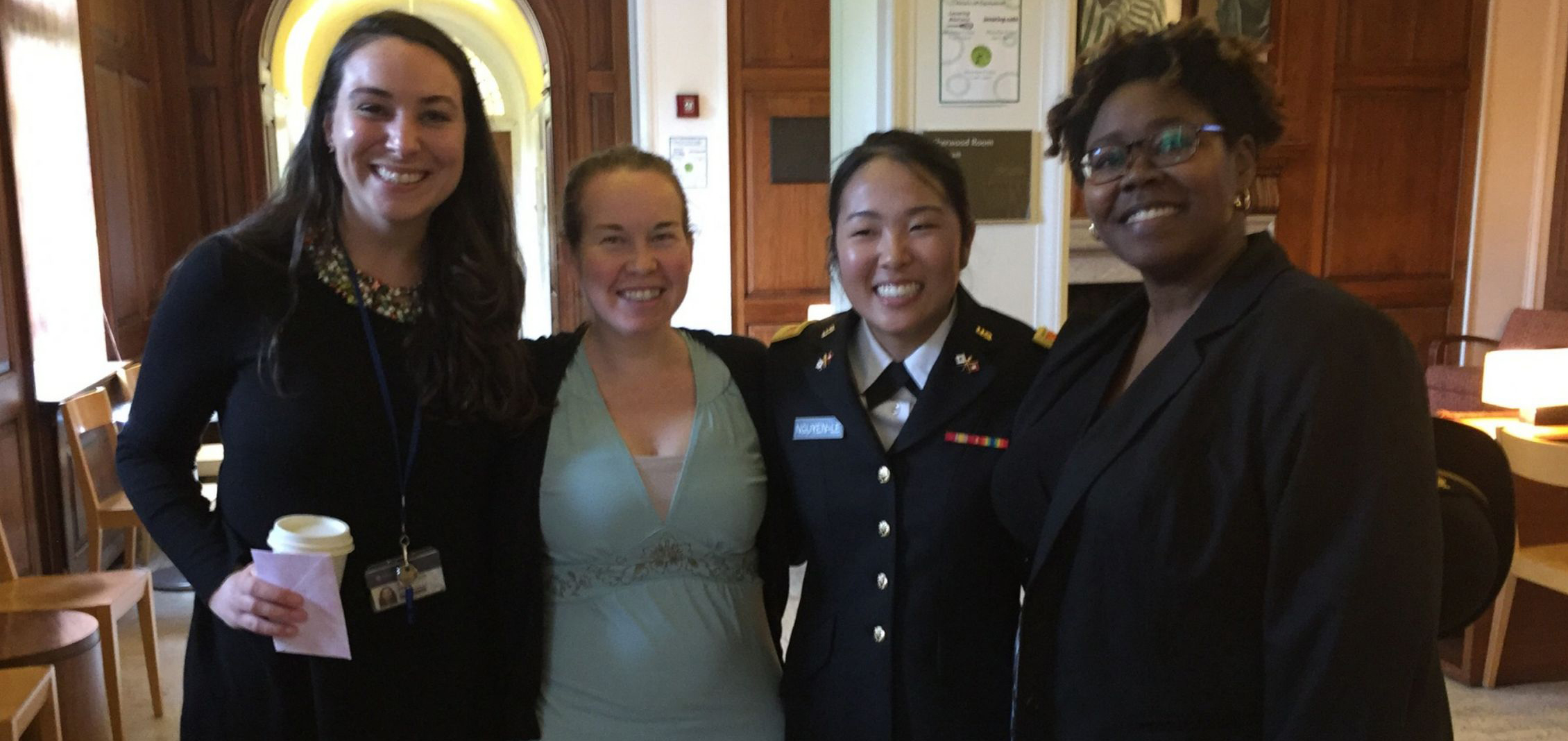 Student Career Development staff with recent graduate Daisy Nguyen-Le