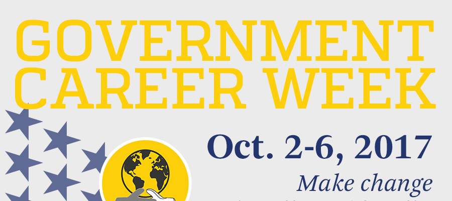 poster of government career week events