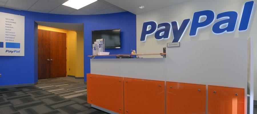 Paypal's Timonium office entrance