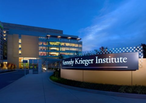 Kennedy Krieger institute at night