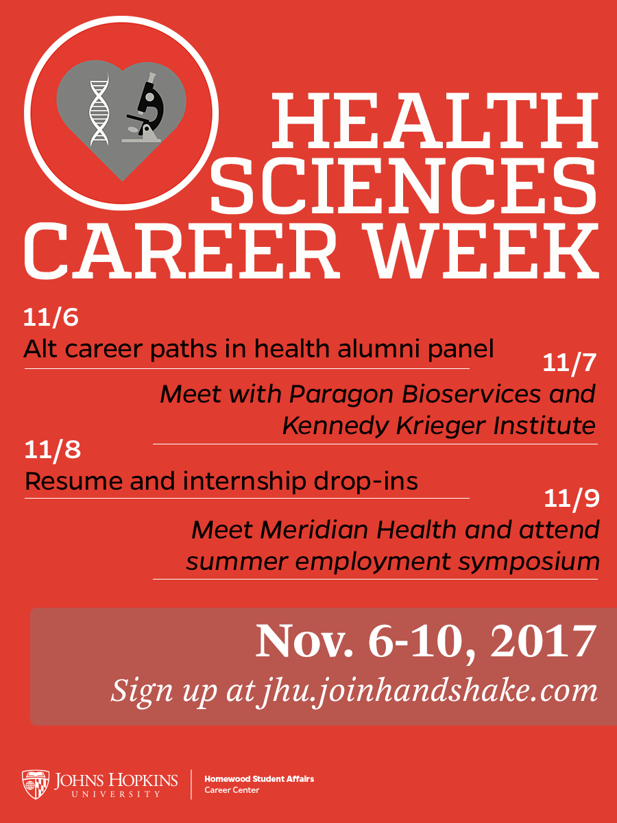 health sciences career week career center - Health Science Student Resume
