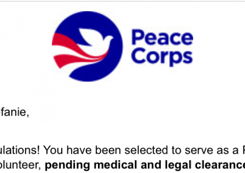 peace corps invitation to serve