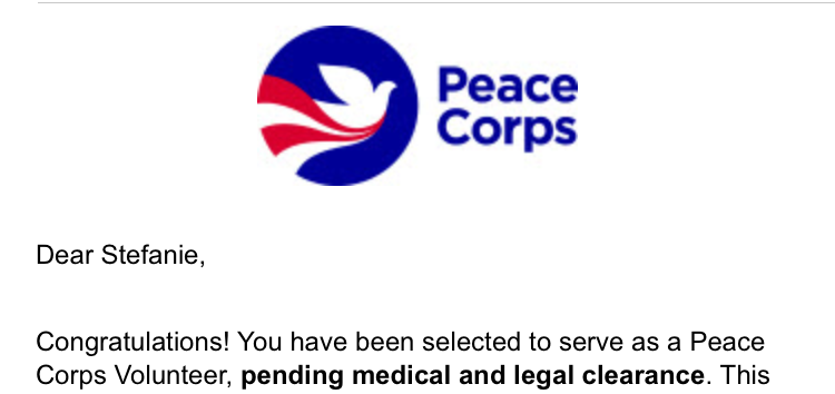 seniors accept new peace corps placements