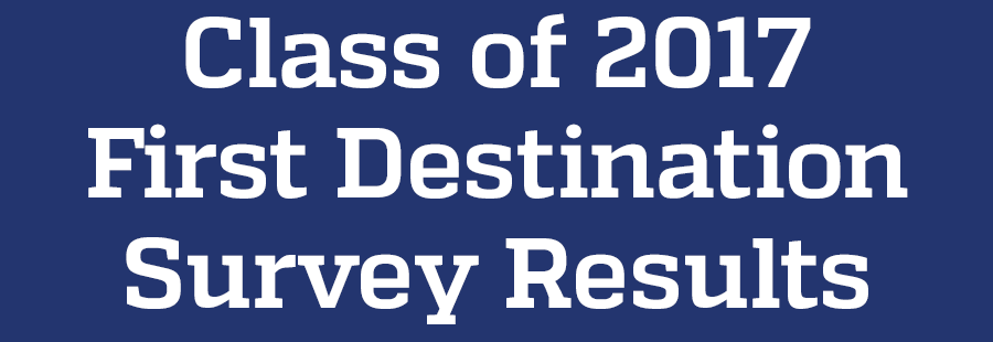 First Destination Survey results for the class of 2017