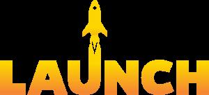 Launch program logo in yellow
