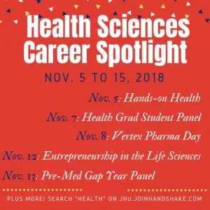 Health Sciences Career Week: Nov. 5-15