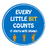 "BIT sticker — ""Every little bit counts, it starts with JHyou!"""