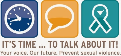 It's time to talk about it! Your voice. Our future. Prevent sexual violence.