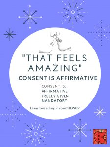 """That feels amazing."" Consent is affirmative."