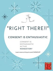 """Right there!!"" Consent is enthusiastic."