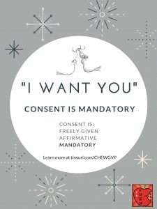 """I want you."" Consent is mandatory."