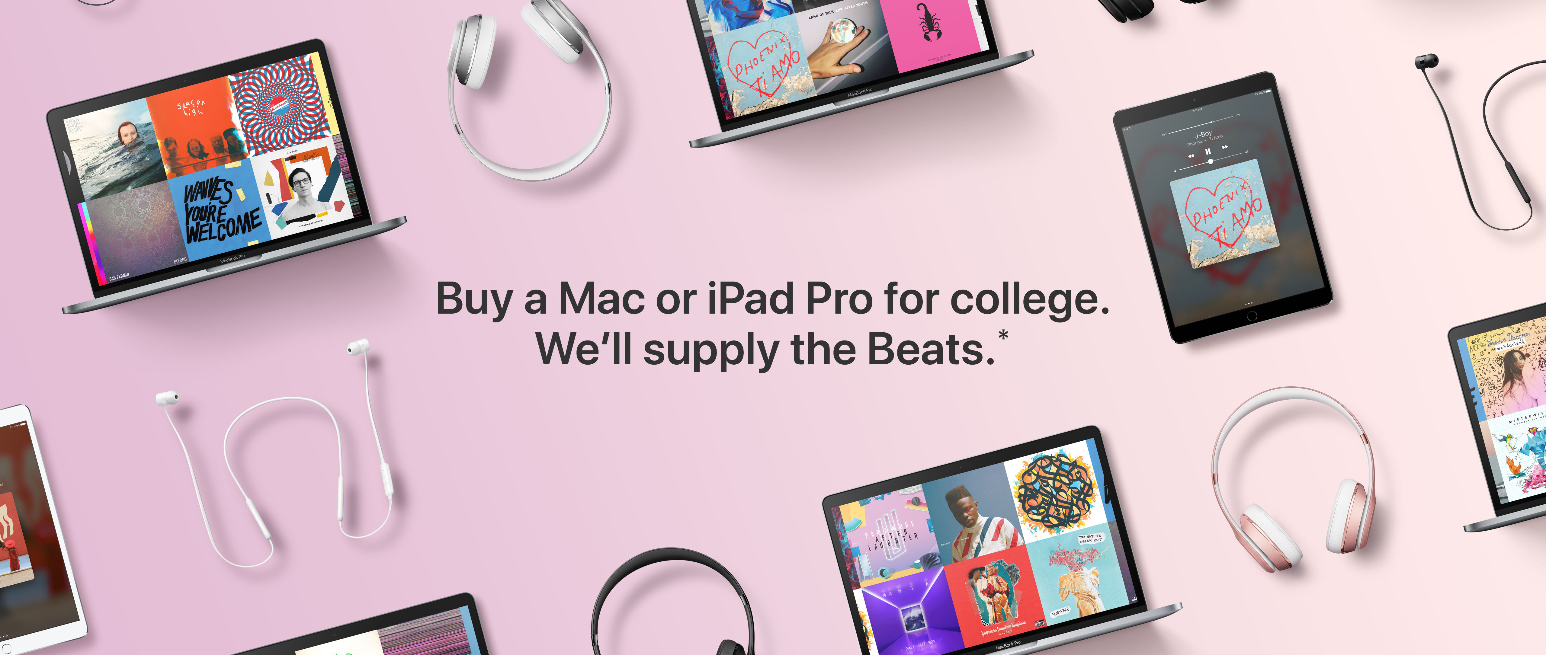 Buy a Mac or Ipad Pro for college. We'll supply the beats