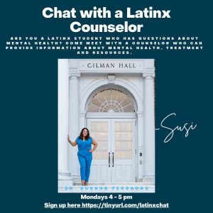 Chat with a Latinx Counselor @ Zoom