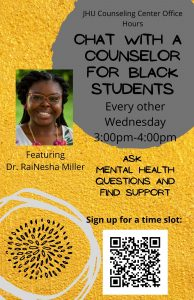 Chat with a Black Counselor @ Zoom