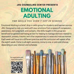 Emotional Adulting Workshop Series @ Zoom