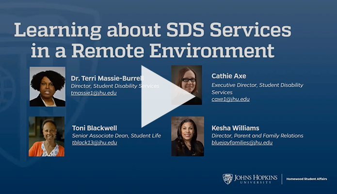 """Webinar title slide that reads """"Learning about SDS Services in a Remote Environment"""""""