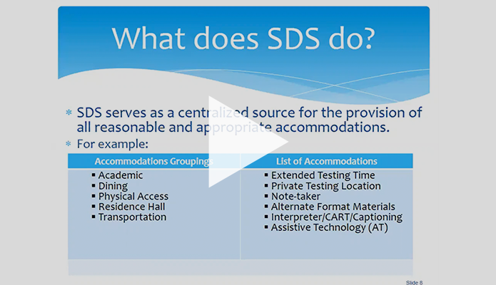 "Slide titled ""What does SDS do?"""