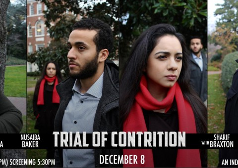 Trial of Contrition by Isaach_Majid film banner featuring four photos of main actors