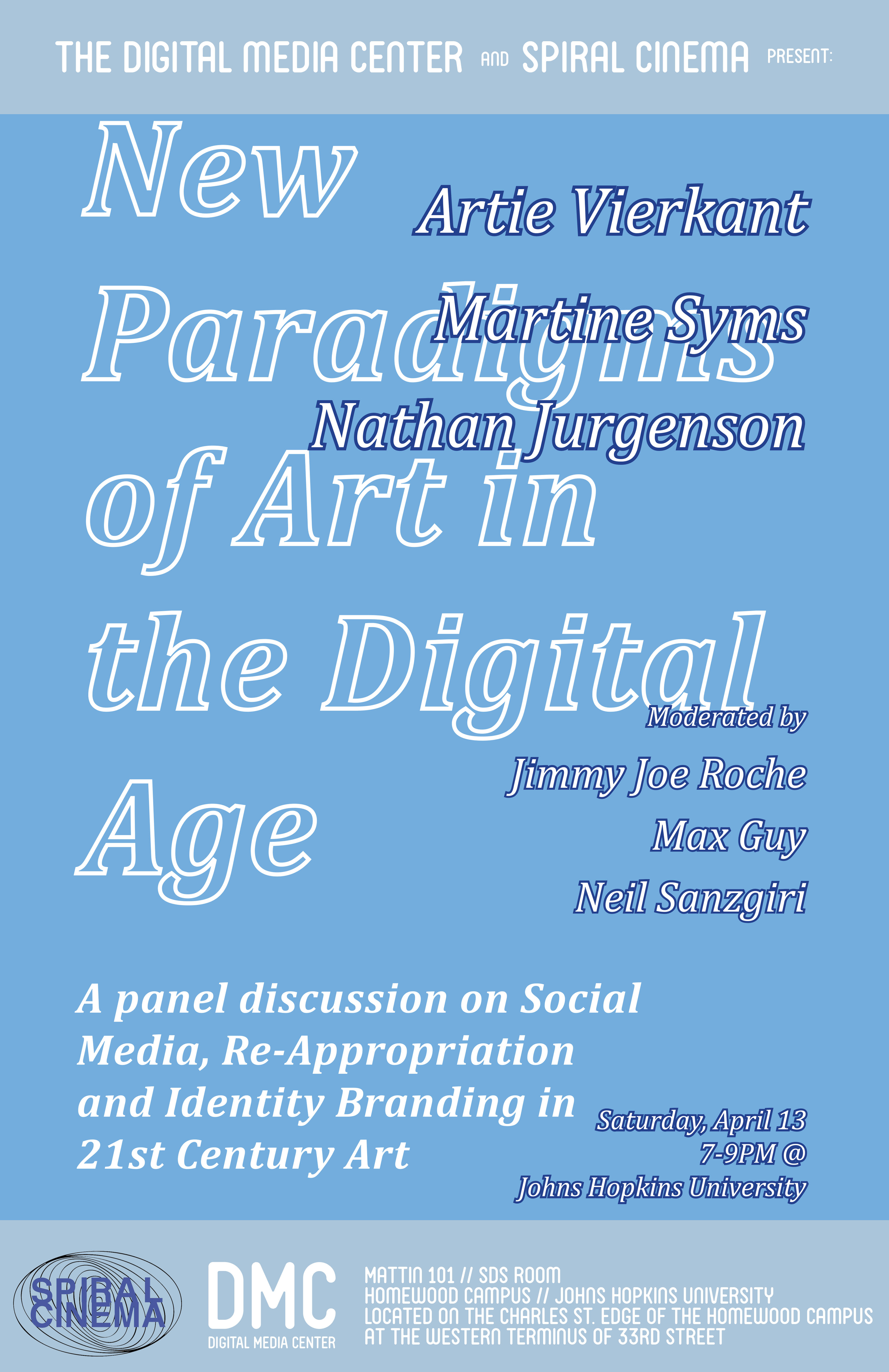 Poster for New Paradigms of Art in the Digital Age event
