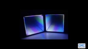 Nathan Towles DJ set with synethesia display installation in blue.