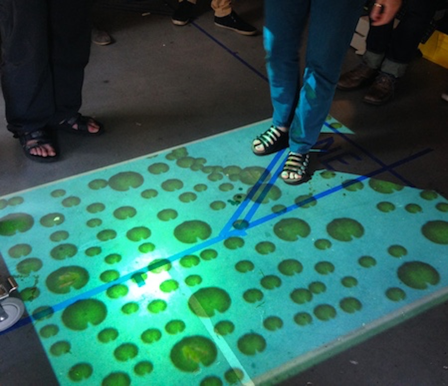 Interactive Floor Projection System Digital Media Center