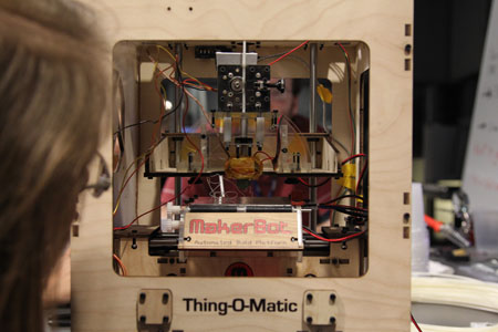 Detail view of MakerBot