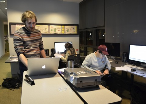 DMC multimedia specialist leads a working in the back bay