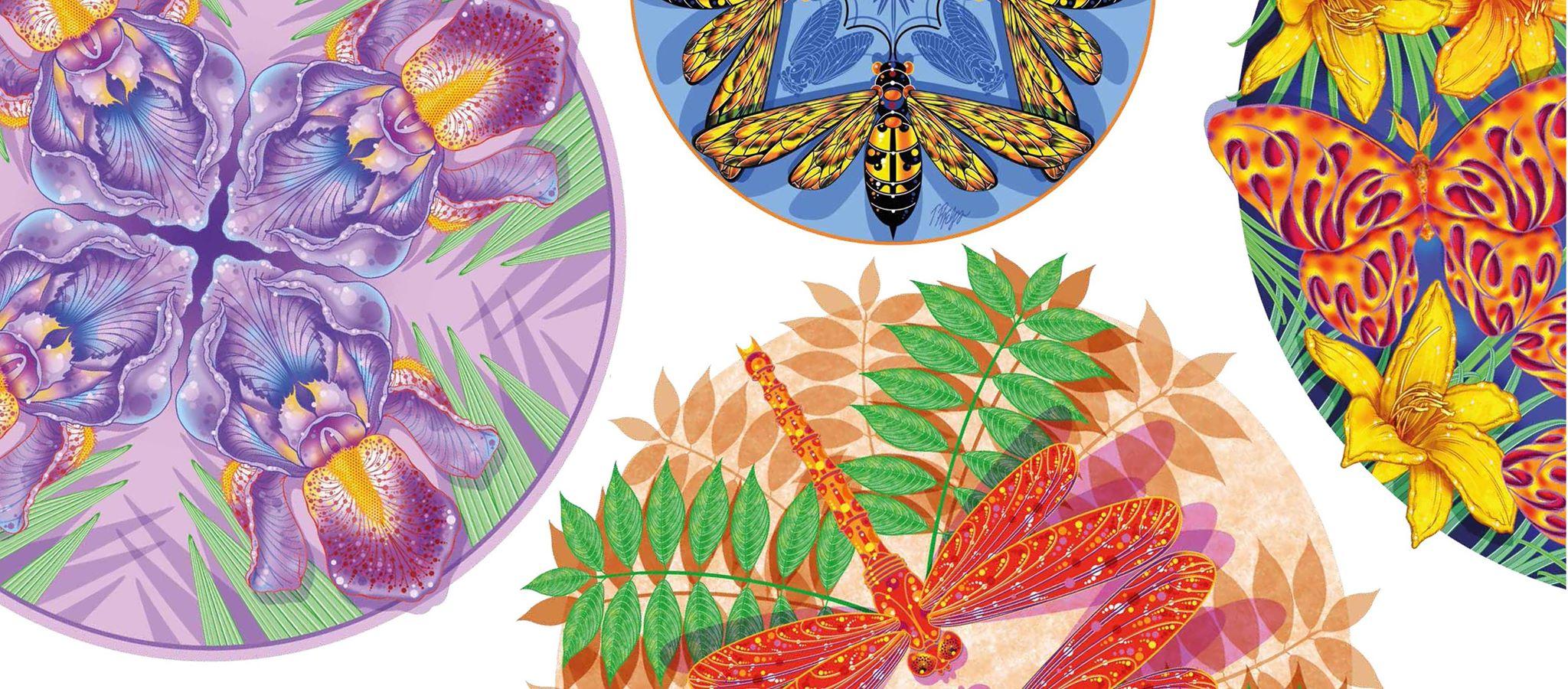 Tim Phelps - Nature mandala artwork