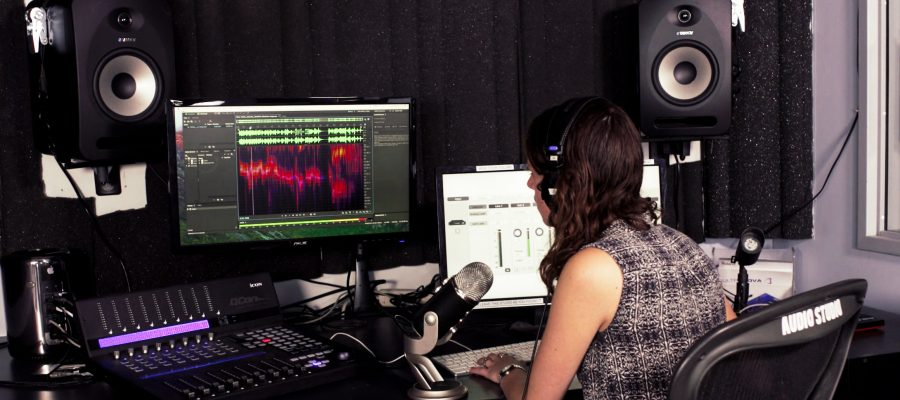 Giovanna Using the Audio Studio 1