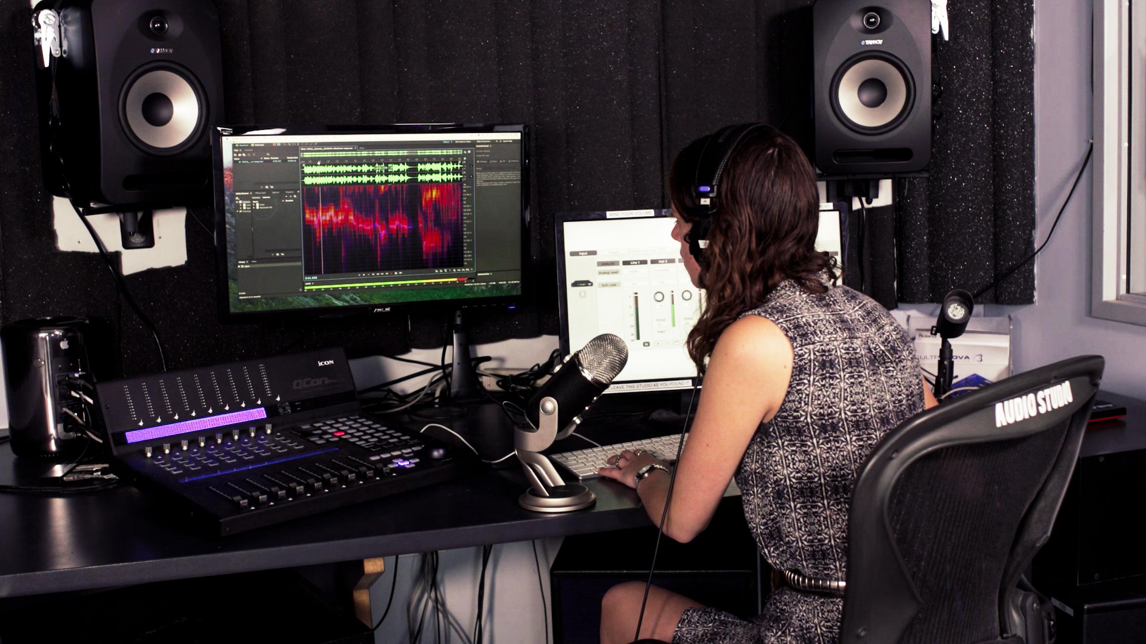 Giovanna Using the Audio Studio 1