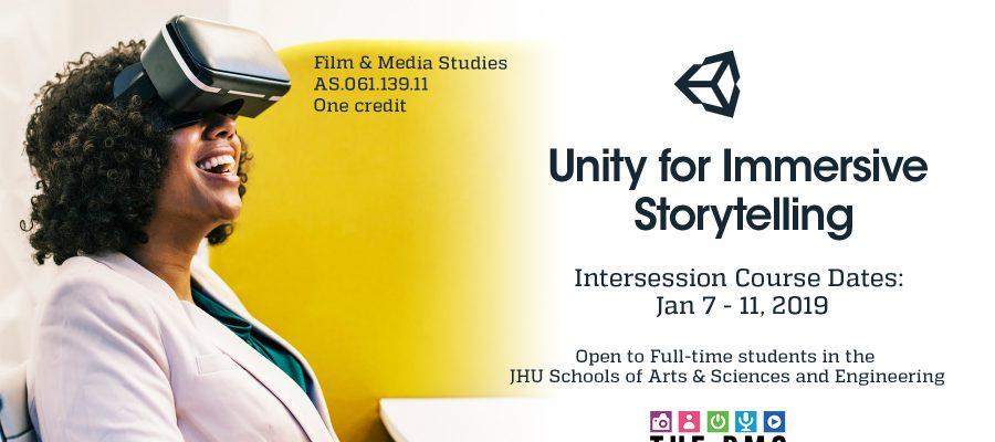 Unity for Immersive Storytelling Web Horizontal Flyer