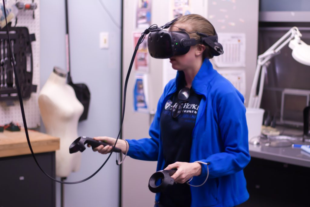 Student using VR Station