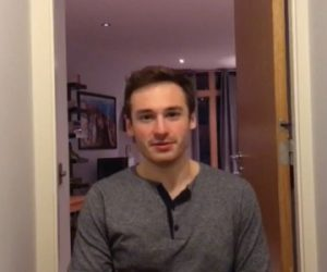 Screen capture of Michael from his Fulbright video.