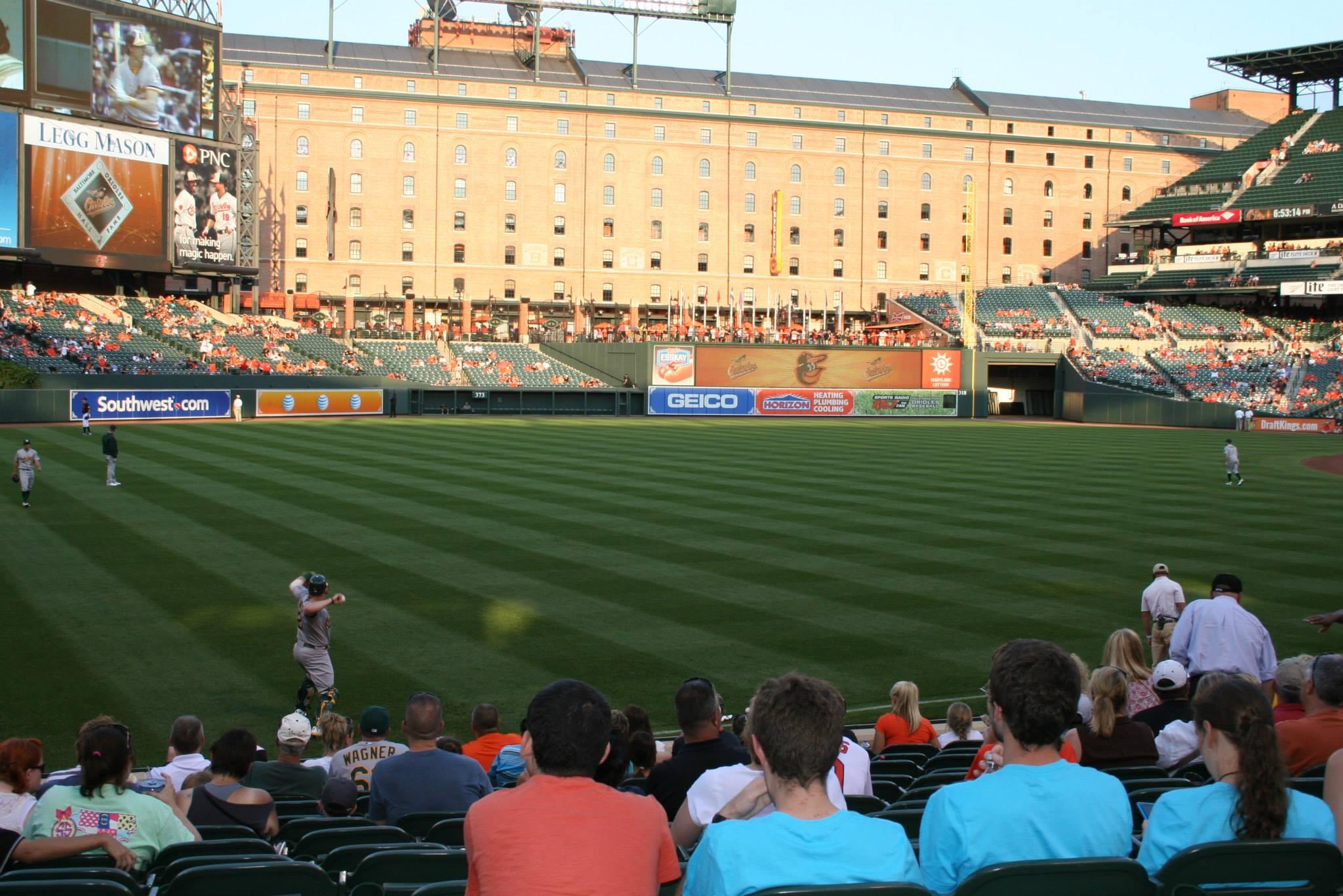 Baseball game at baseball field