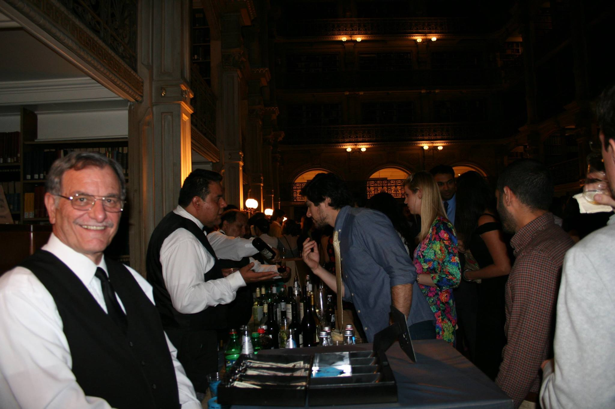 serving food at cocktail night