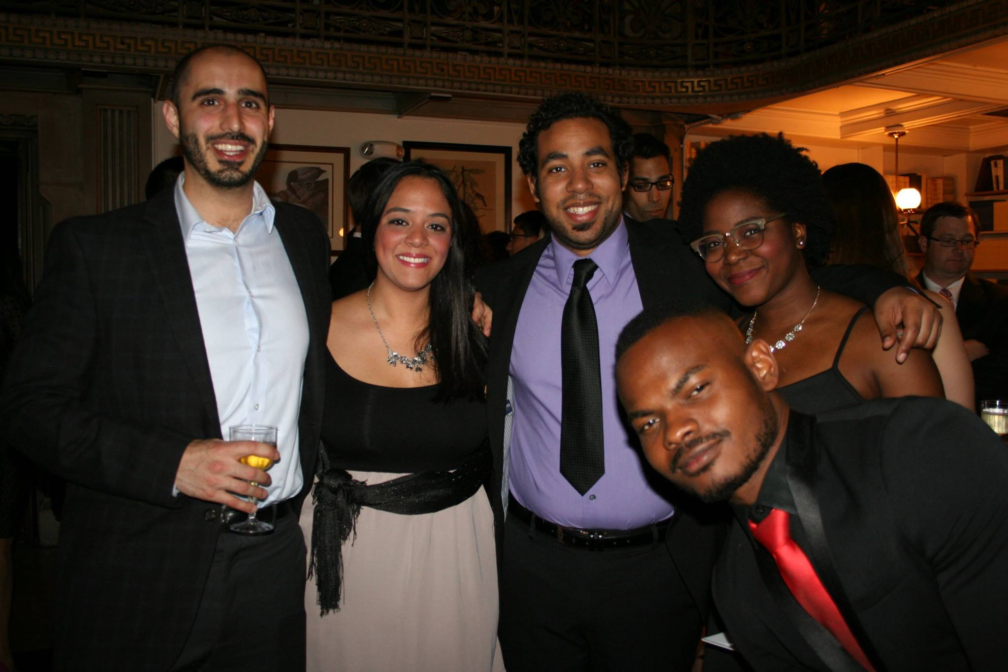 group picture of students at cocktail night