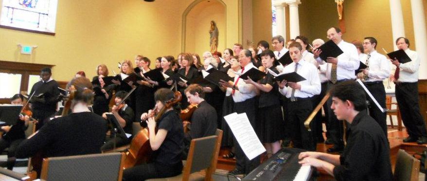 JHU Choral Group singing