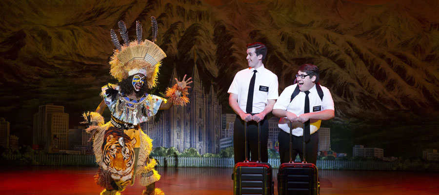 Characters from a scene from the Book of Mormon.