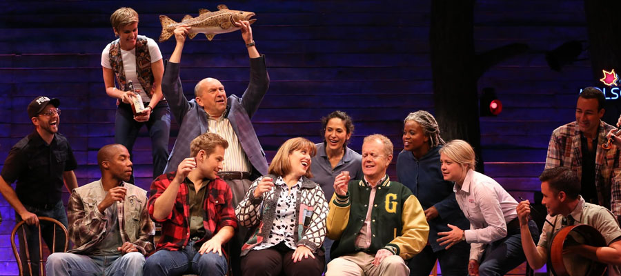 A group scene from Come From Away.