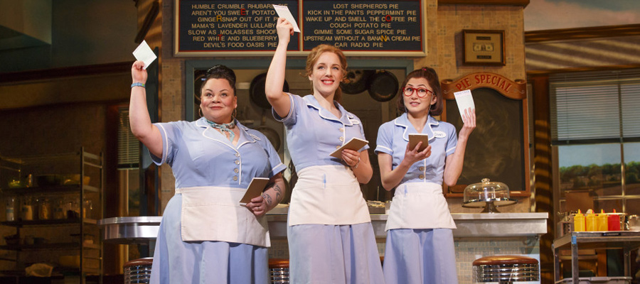 "Actresses performing in ""Waitress"""
