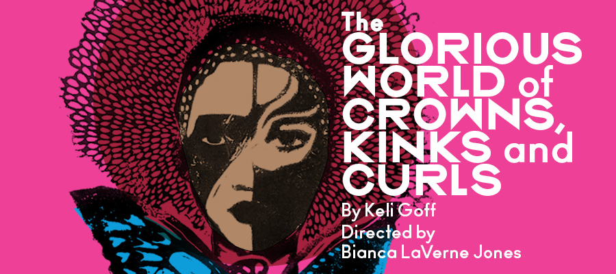 """Artwork for """"The Glorious World of Crowns, Kinks and Curls""""."""