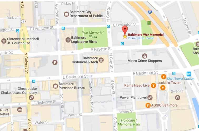 Baltimore War Memorial Google Map - Hopkins Symphony Orchestra