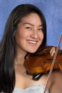 Morgan Wu with violin