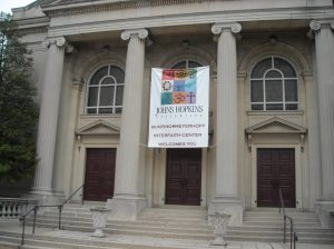 The front of Bunting-Meyerhoff Interfaith Center.
