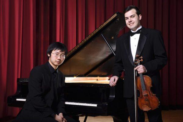 Violinist William Harrington and pianist Yuekang Zhang