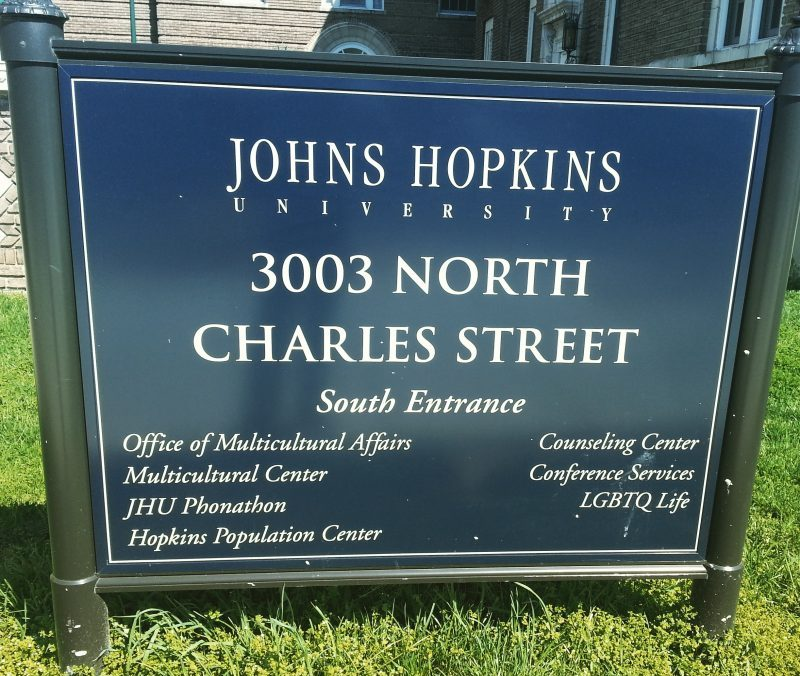 Johns Hopkins University - 3003 North Charles St - South Entrance