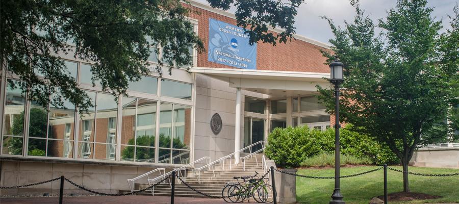 Exterior view of Recreation Center.