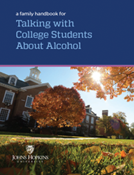 Cover of handbook for talking with college students about alcohol.